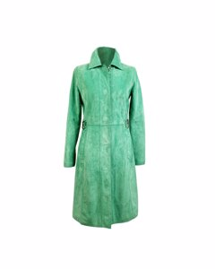 Dolce & Gabbana Green Suede Mid Lenght Coat Size 40 It