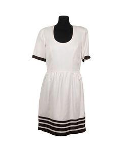 Creazioni Antonietta Ermini Vintage White Skater Dress Short Sleeve