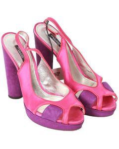 Dolce & Gabbana Color Block Slingback Pumps Heels Size 38