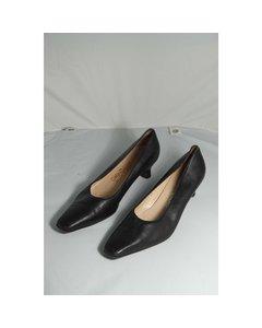 Salvatore Ferragamo Vintage Black Leather Decolletes Shoes Pumps Size 9 1/2
