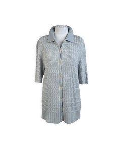 De Carlis Roma Vintage Light Blue Cotton Knit Cardigan Size L