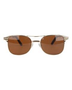 Ronson Beige Metall Solglasögon Modell: Lauren