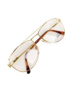 Gerald Genta Vintage Gold Gold Aviator Sunglasses Mod: Gold and Gold 03 AU