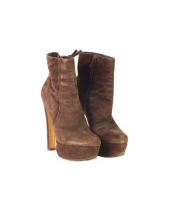 Max Bianco Brown Suede Ankle Boots Mod: Platform Shoes