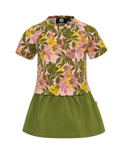 Auli Dress Short Sleeve Green