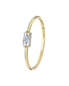 Ring, 585 Gelbgold, mit Zirkonia, Rechteck