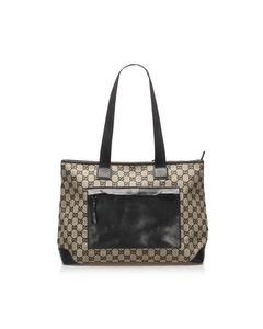 Gucci Gg Canvas Tote Bag Brown