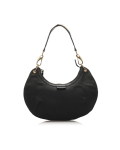 Gucci Web Canvas Hobo Bag Black