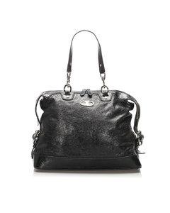 Celine Leather Shoulder Bag Black