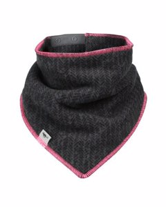 Fleece Scarf Black/neon Pink