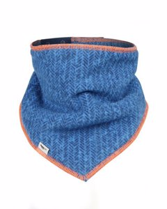 Fleece Scarf Blue/orange
