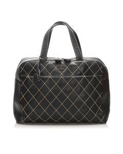 Chanel Surpique Leather Handbag Black