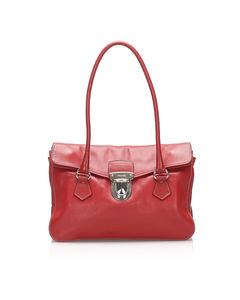 Prada Easy Leather Shoulder Bag Red