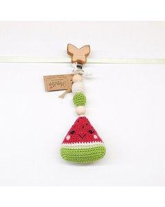 Watermelon Stroller Hanger (butterfly Clips)