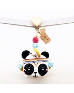 Panda Stroller Hanger (heart Clips)