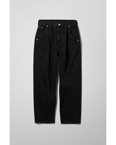 Bundfalten-Jeans Fold Schwarz