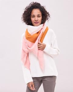 Mönstrad Scarf Striped - Offwhite