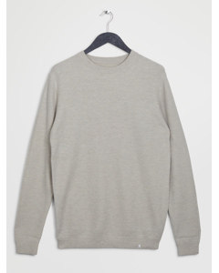 Siam Knit L/s Off White Melee