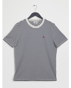 Suez A T-shirt S/s Black Iris/white Stripe