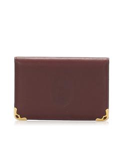 Cartier Must De Cartier Leather Card Case Red