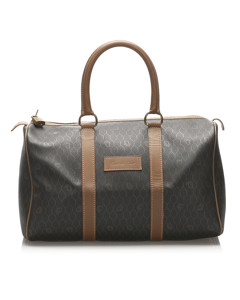 Dior Honeycomb Boston Bag Brown