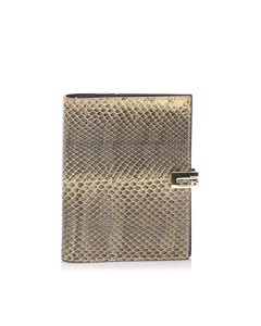 Gucci Python Leather Agenda Brown