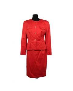 Chiara Boni Red Cotton Suit Model: Skirt Suit