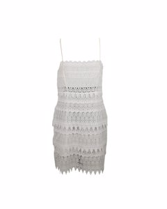 Charo Ruiz Ibiza White Lace Sleeveless Mini Dress Size M