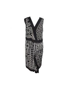 Alma Black Viscose Jurk Model: Wrap Dress