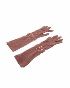 Unbranded Brown Wool Scarf Mod: Elbow Gloves