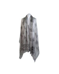 Franco Ferrrari Gray Silk Scarf Mod: Large scarf