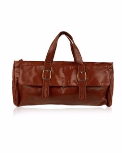 Unbranded Vintage Brown Leather Handbag Mod: East/West Bag