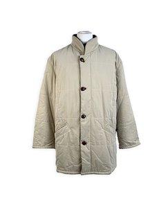 Longhi Vintage Beige Men Mid Lenght Jacket Cashmere Lining Size 52