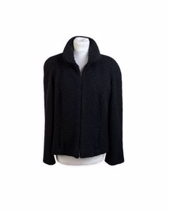 Mariella Burani Vintage Black Wool Jacket Mod: Zip Jacket