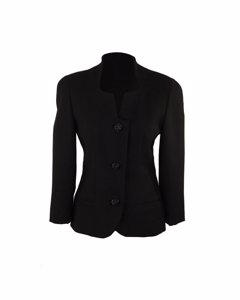 Gai Mattiolo Couture Black Collarless Jacket With Lace Back It Size 42