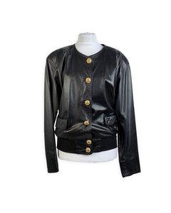 Maendler Vintage Black Leather Jacket Mod: Leather
