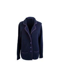 Duca Di Valtorta Vintage Blue Cashmere Blazer Jacket Size Xl
