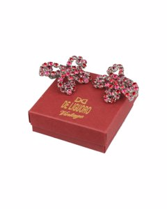 De Liguoro Pink Fabric Oorbel Model: Earrings
