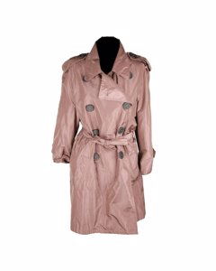 Rue Du Mail Taupe Polyester Coat Mod: Trench coat
