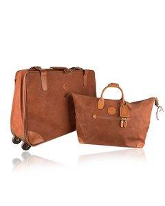 Bric's Beige Canvas Luggage Bag Mod: Travel Set
