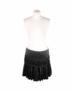 Valentino Beige Zijden Rok Model: Tiered Skirt