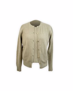 Orwell Knitwear Vintage Pale Green Twin Set Cardigan And Jumper Size L