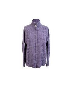 De Carlis Roma Vintage Violet Cashmere Knit Cardigan Size M