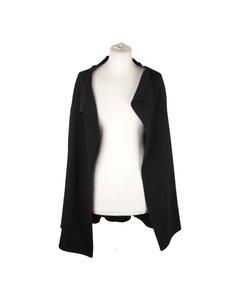 Ozen Black Wool Open Front Cardigan Size 42