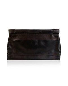 Narciso Rodriguez Black Leather Clutch Bag Mod: Wrist Bag