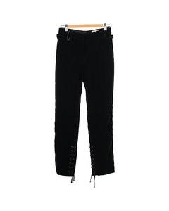 Velvet Pants Lace Up Detail Size 38