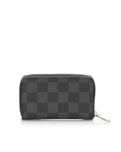 Louis Vuitton Damier Graphite Zippy Coin Purse Black
