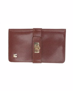 Cilli Vintage Brown Leather Wallet Coin Purse With Checkbook Holder