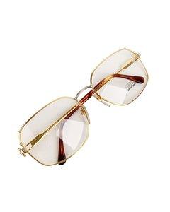 Gerald Genta Vintage Gold Metal Eyeglasses Mod: Gold and Gold 08 OB