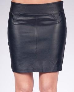 Lamb Leather Skirt - Marine